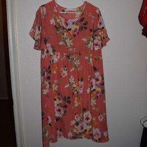 Chris & Carol Floral Dress